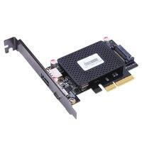 Great Q Desktop 10Gb/s USB 3.1 Type C + USB Rapid Changing Port PCI e 4x PCIe to external USB C Adapter pci express riser card