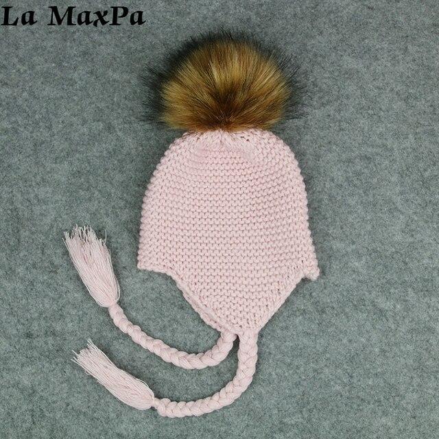 ea6b35299af77d Cute Toddler Kids Girl Boy Baby Infant Winter Warm Crochet Knit Hat Beanie  Cap Black Pink White Green