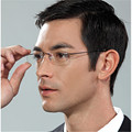 Memory Titanium Eyeglasses Frame Men women Ultralight Alloy Brand Rimless Frames Myopia Prescription Frameless Glasses