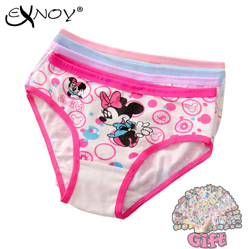 4pcs/lot 2018 New Fashion Kids Panties Girls' Briefs Female Child Underwear Lovely Cartoon Panties Children Clothing Baby Clothe