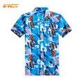 VICVIK Marca Mens Casual Camisa de Manga Curta Masculina Verão Top Camisa Xadrez Roupas Top Estilo Floral Da Árvore de Coco