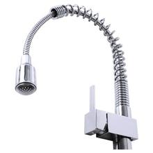 LED RGB света Однорычажный кран водопроводной воды Водопад Одной ручкой раковины кухонный
