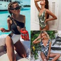 TCBSG 2019 Neue Sexy Einem Stück Badeanzug Plus Size Bademode Frauen Strand Monokini Push Up Badeanzug Retro Badeanzug Schwimmen tragen