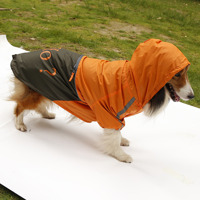 New arrival large dog fashion rain jackets clothes big dogs raincoats costume pet accessories hoodies pets clothing 1pcs L-XXXL 5