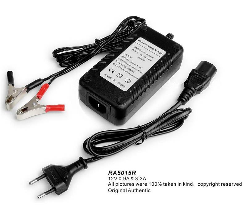 12V Car Battery Charger 0.8//3.3A Motorcycle Charger Lead Acid Battery