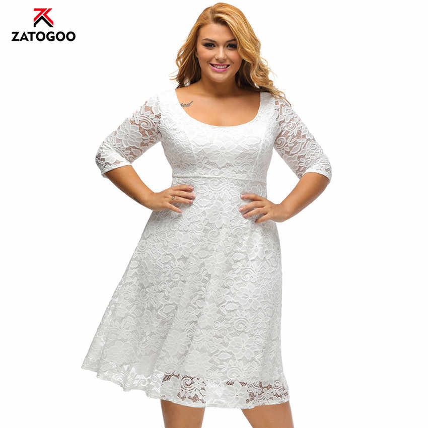 7f4b72f10acdb Seluxu Plus Size Summer Dresses For Women 2019 Elegant Vestidos Robe ...