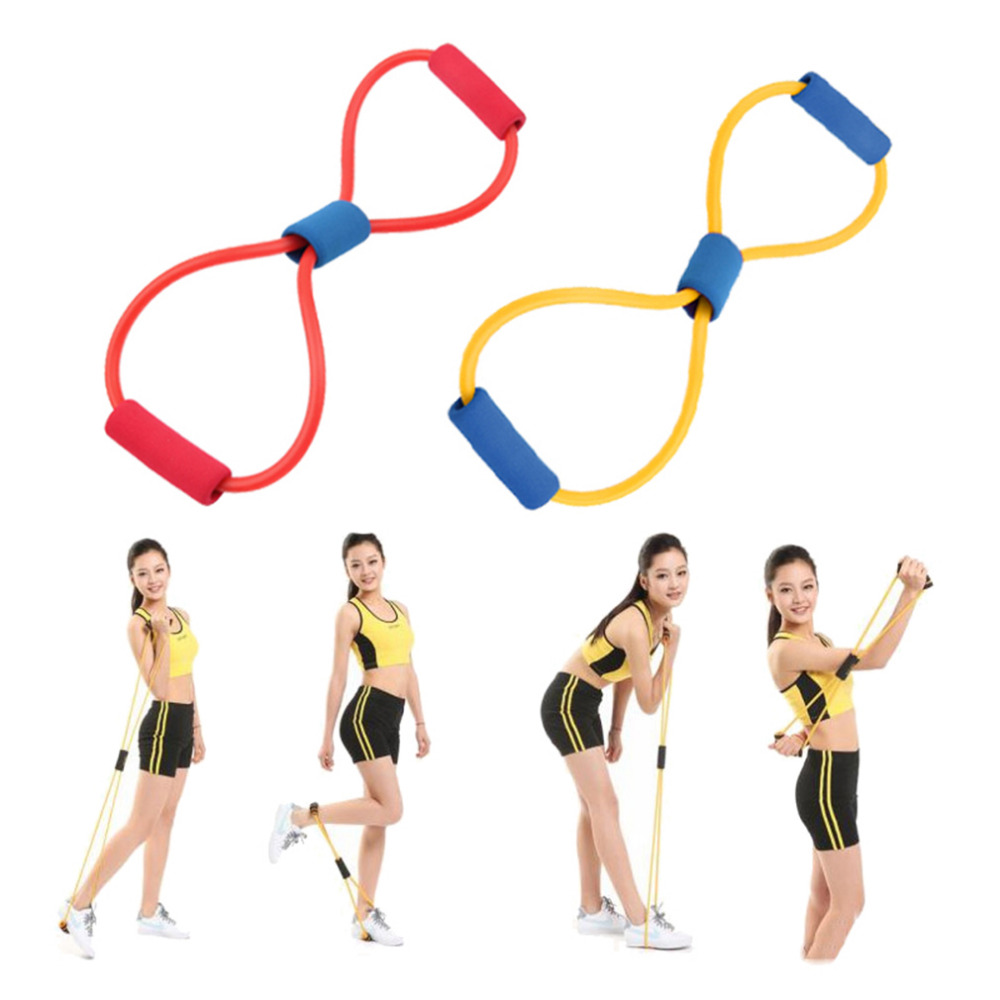 1PCS Resistance 8 Typ Muscle Chest Expander Rope Workout Fitness Übung Yoga Tube Pilates Band Sport Pulling Exerciser