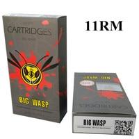 BIGWASP Gray Disposable Needle Cartridge 11 Curved Magnum 11RM 20Pcs Box