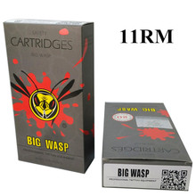 BIGWASP Gray Disposable Needle Cartridge 11 Curved Magnum (11RM) 20Pcs/Box