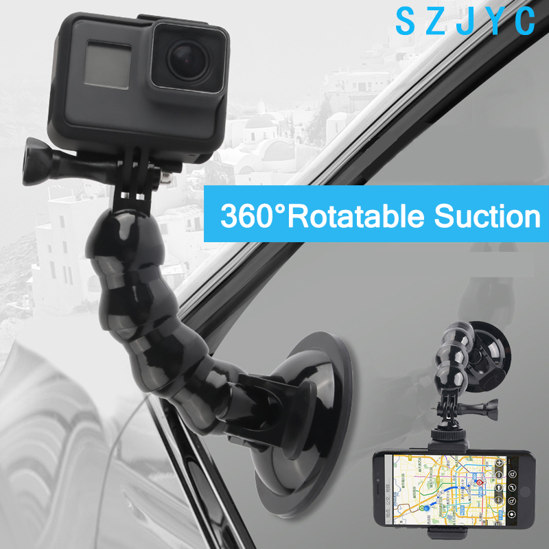 2018 New Accessories Car Suction Cup Adapter Window Glass Mount For Gopro Hero 7 6 5 Black Hero 4 3 3+ 4s 5s sj Xiaomiyi2018 New Accessories Car Suction Cup Adapter Window Glass Mount For Gopro Hero 7 6 5 Black Hero 4 3 3+ 4s 5s sj Xiaomiyi