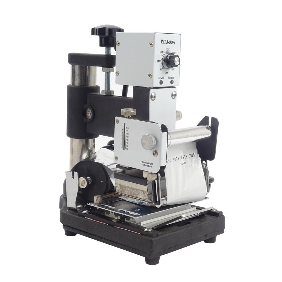 купить 1 pcs Hot Stamping Machine For PVC Card Member Club Hot Foil Stamping Bronzing Machine WTJ-90A дешево
