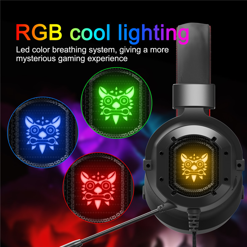 Surround Stereo Headphone LED Light Gaming Headset  With Microphone Clear Sound Quality Suit For Game Players and Music Lovers