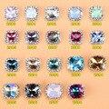 100 Unids/lote Mix Patrón Duradero Claro Ópalo Piedras Decorativas Uñas Rhinestones Para Uñas 3D de Cristal Uñas de Manicura Aleación