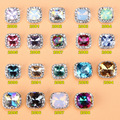 100PCS/Lot Mix Pattern Durable Opal Clear Decorative Stones Fingernails  Rhinestones For Nails 3D Crystal Nails Alloy Manicure
