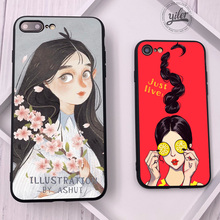 Fashion Girls Shell for iPhone 7 Plus case Women XS Max Case 6S 5 5S SE 6 8 XR Cases Cover