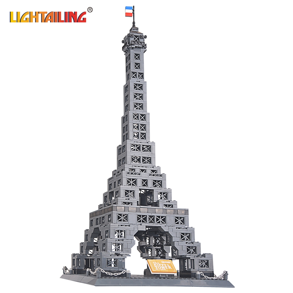ФОТО LIGHTAILING Brand New Famous Architecture series the Eiffel Tower 3D Model Building Blocks Classic Toys 978 PCS