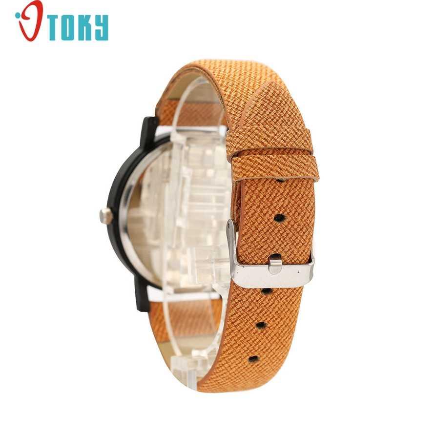 Reloj de pulsera de cuarzo deportivo de cuero con estampado de madera para hombre con envío directo 170628