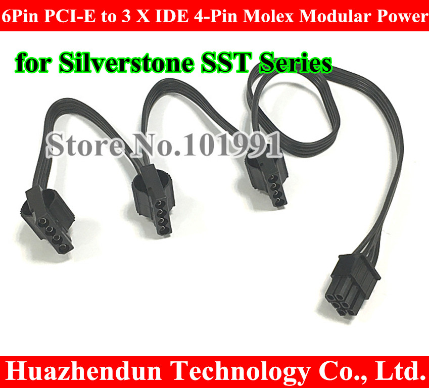 все цены на  Free shipping by DHL 6Pin PCI-E to 3 X IDE 4-Pin Molex Modular Power Supply Adapter Cable for Silverstone SST Series  онлайн