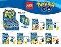 2017 Nuevo 6 unids XSZ 314 Pokemon Super Heroes Niños Modelo de Bloques de Construcción Ladrillos Acción Bebé Juguetes Para Niños de Regalos brinquedos
