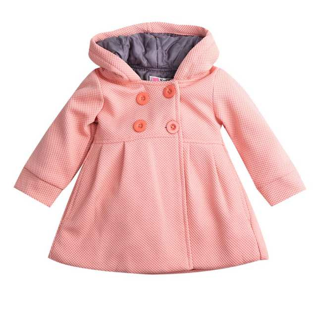 0b4b9da4e Online Shop Winter Autumn Baby Girls Fall Horn Button Hooded Pea ...