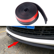 Universal Car Front Rear Side Bumper Lip Splitter Rubber Protector Body Spoiler Valance Chin Rubber Car Protector