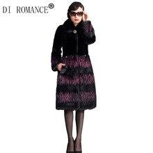 DI ROMANCE 2016 fashion women's winter fur coat imitation mink fur mink fur coat large size 4xl