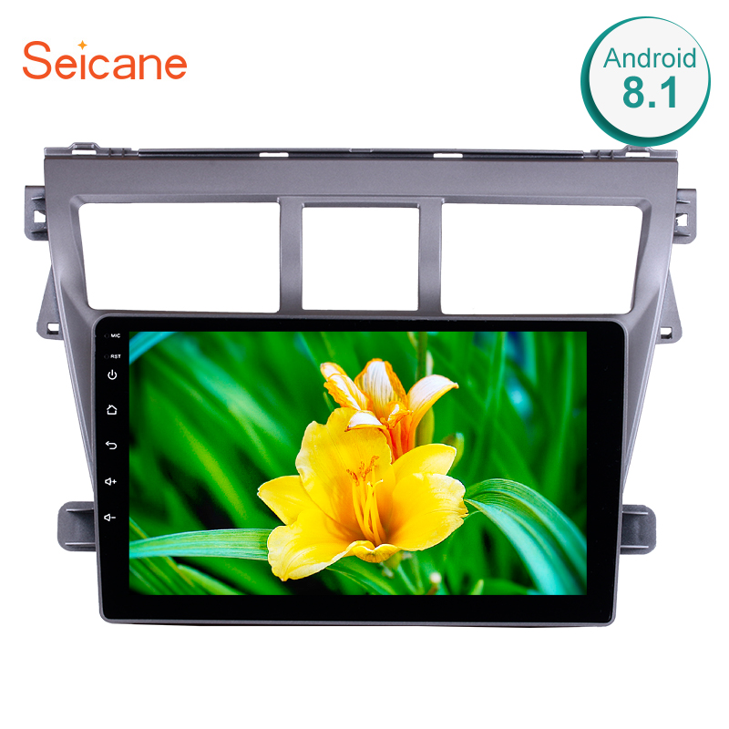 Seicane Touchscreen GPS Multimedia Player Head Unit Android 8.1 9 Inch Car Radio For 2007 2008 2009 2010 2011 2012 Toyota VIOS