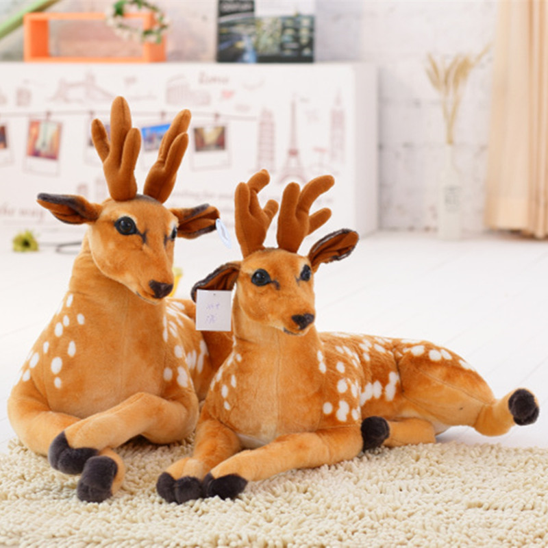 MIAOOWA  1PC Giant Cute Simulation Animal Plush Toy Soft Pillow Kawaii Deer Doll Kawaii Giraffe Children Baby Kid Birthday Gifts