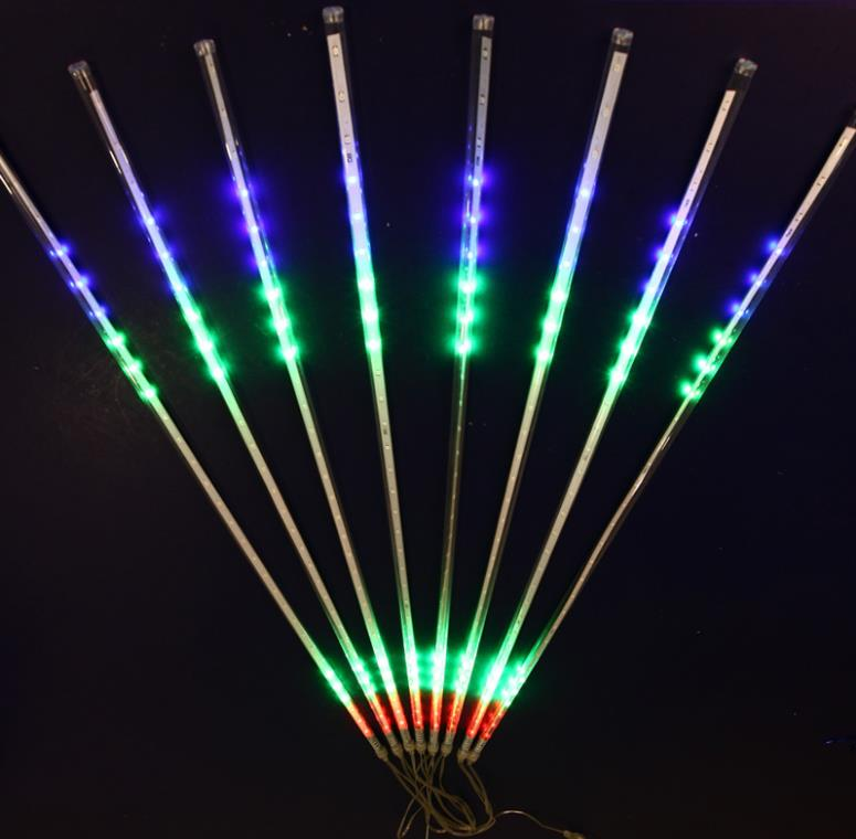 1set 8tubes 50cm 36led Led Synchronous Meteor Shower Rain Tube String Outside Christmas Wedding Garden Street Tree Road Holiday