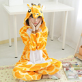 Kigurums Giraffe Pajamas Pyjamas Adult Onesie Children Jumpsuit Cosplay Costume Cartoon Animal Sleepwears Design For Toilet