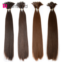 Sambraid 22 Inch Pre Bonded Hair Extensions 100 Pc/pack 1g/Pc Goddess Long Straight Synthetic Braiding Hair Extensions For Women