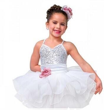 Da Sparkle Bianco Sequin Argento Ballerina E Bambini Vestiti Vestito FXwqHnpvw