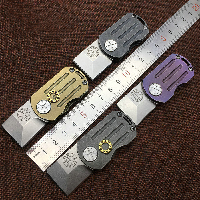 VOLTRON M390 Blade MINI Folding Knives TC4 Titanium Handle Outdoor Keychain Knife Camping Survival Pocket Multi EDC Tools 61HRC outdoor multifunction camping tools axe aluminum folding tomahawk axe fire fighting rescue survival hatchet