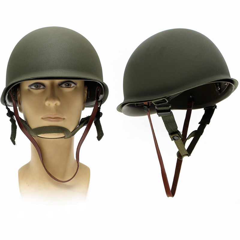 M1 Helmet Replica Military WW2 US Army M1 Steel Helmet Airsoft Replica Hunting Protective Helmet militech usa m1 replica helmet with abs inner helmet ww2 m1 double decker helmet world war 2 usa army safety helmet motorcycle