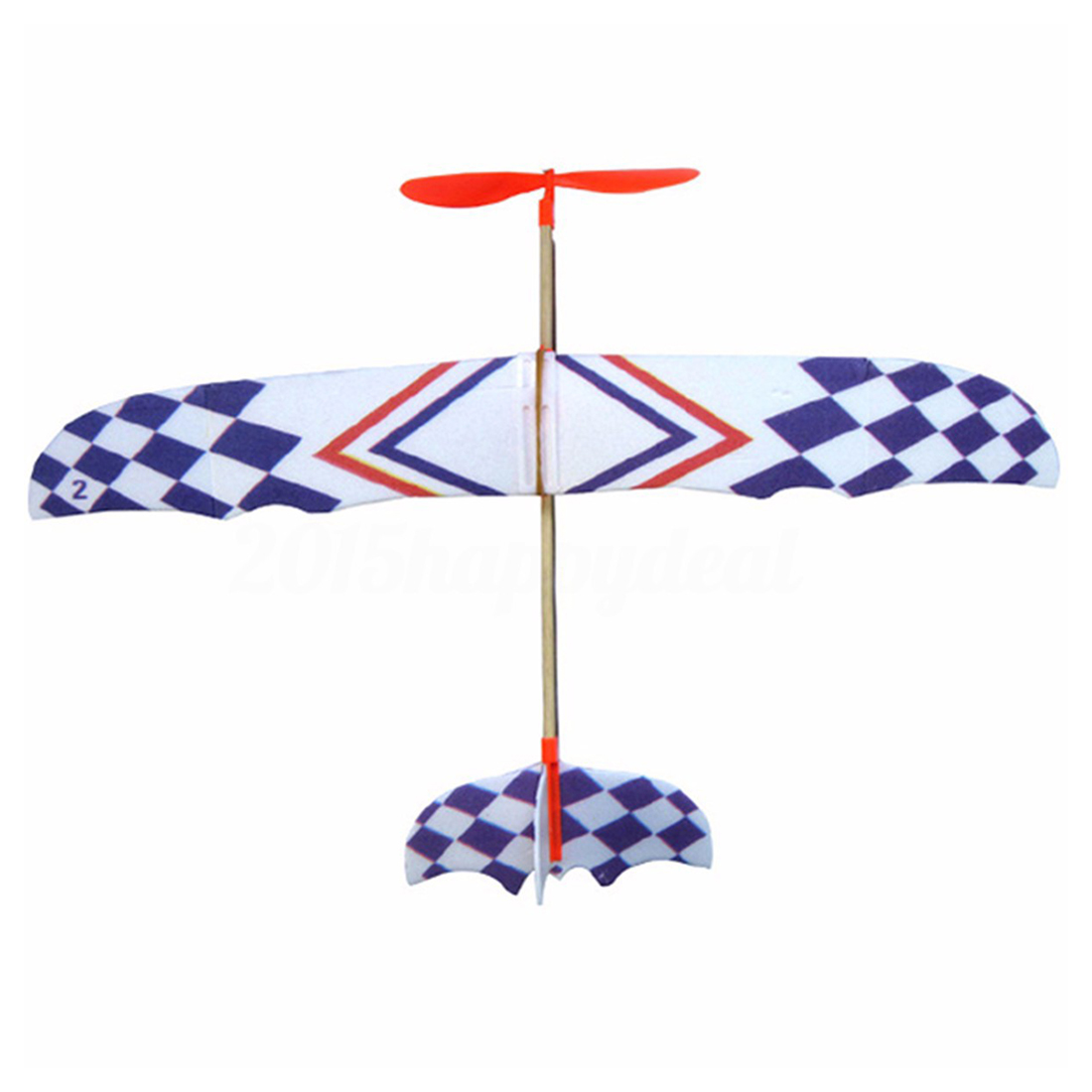 Elastic Rubber Band Powered DIY Foam Plane Model Kit Aircraft Educational Toy