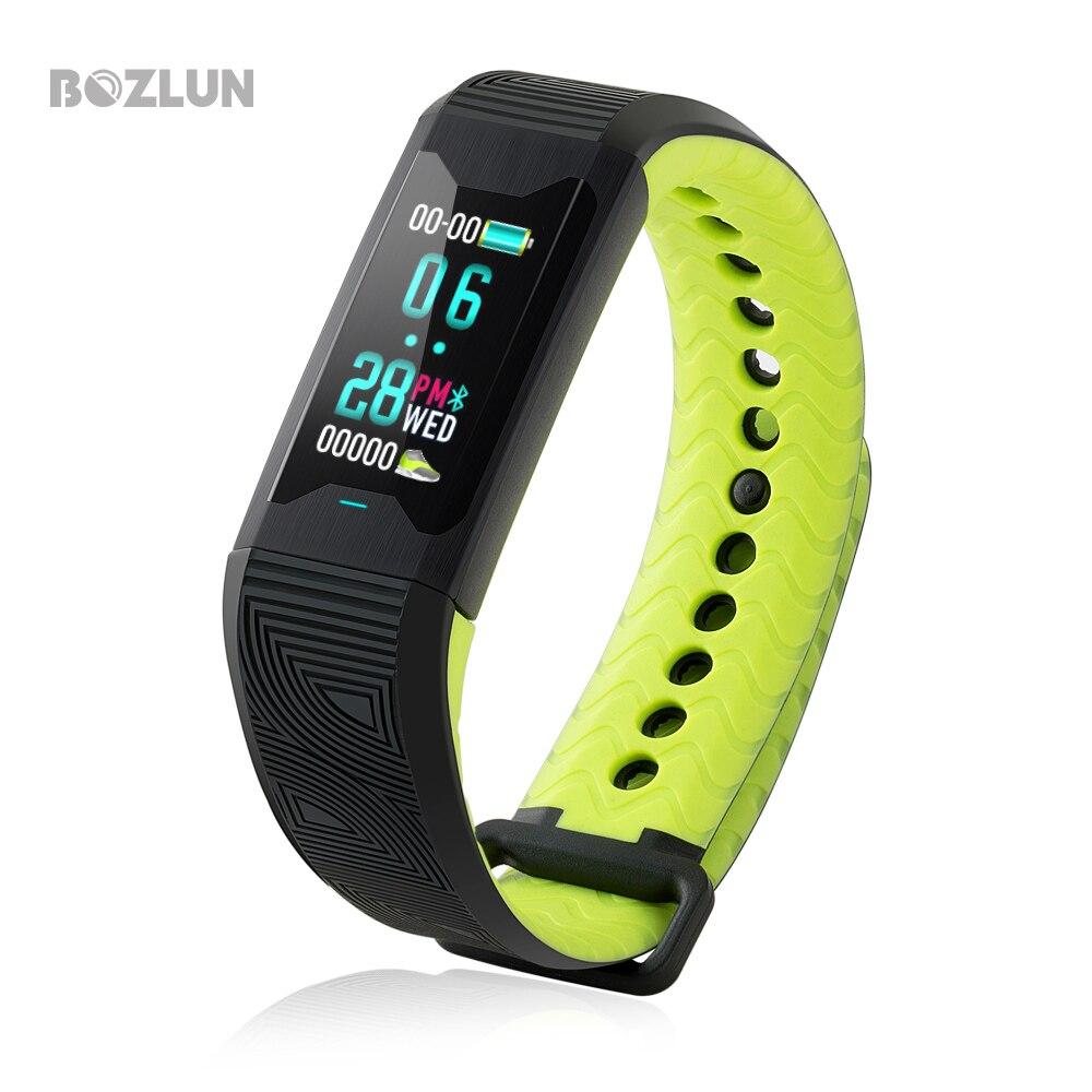 BOZLUN Sports Smart Bracelet Heart Rate Tracker Fitness Blood Pressure Medical level Wristband Sleep Monitor Smart