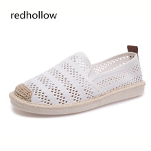 Women Slip On Loafers Summer Spring Breathable Shoes Women's Casual Flat Shoes Cut-outs Ballet Flats  Footwear Zapatos Mujer недорго, оригинальная цена