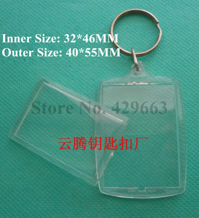 Acrylic Picture Frame Keychains