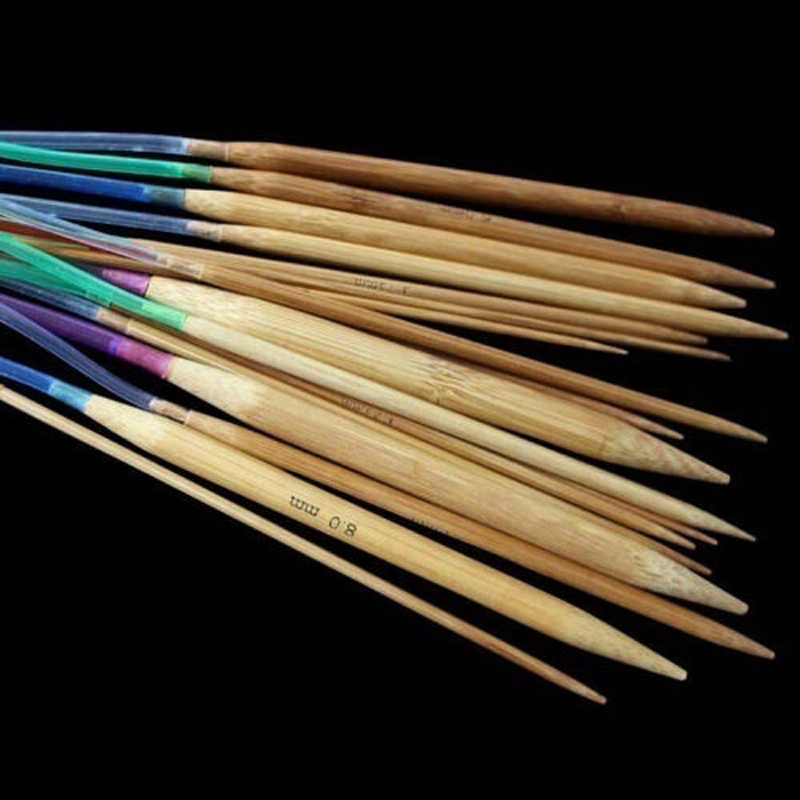 18pcs Circular Carbonized Bamboo Circular Knitting Sewing Needles Tools 40cm 60cm 80cm 100cm 120cm Crochet Hooks in Sewing Needles from Home Garden