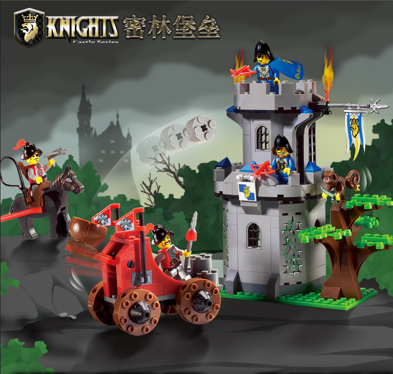 Enlightenment Model building kits compatible with lego city castle Fortress 601 3D blocks Educational toys hobbies for children lepin 16008 cinderella princess castle city model building block kid educational toys for children gift compatible 71040
