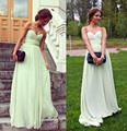 5077 Sage Color Beach Bridesmaid Dresses 2016 Pink Chiffon Long Maid of Honor Wedding Guest Gowns Cheap Plus Size 2-26W
