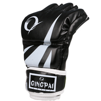 New Top Quality MMA PU Boxing Gloves Training Gloves Half Finger Muay Thai Kick Fighting Gloves