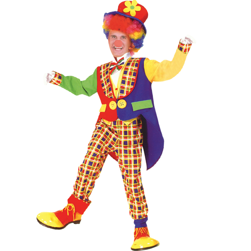 free shipping halloween costume party magician clown clothes suit with tuxedo pocket adult clown costume dress - Free Halloween Costume