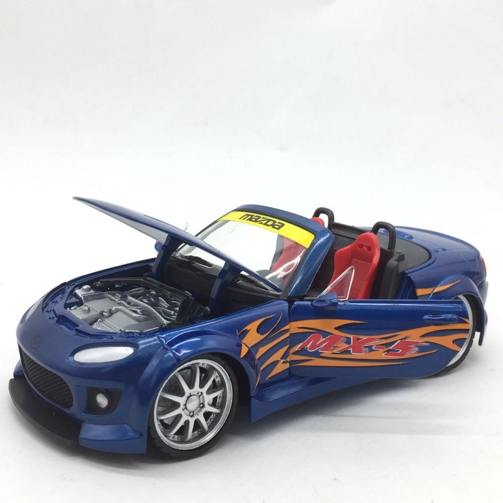 Wide body 1:24 MX 5 alloy car model for Mazda Length 18cm