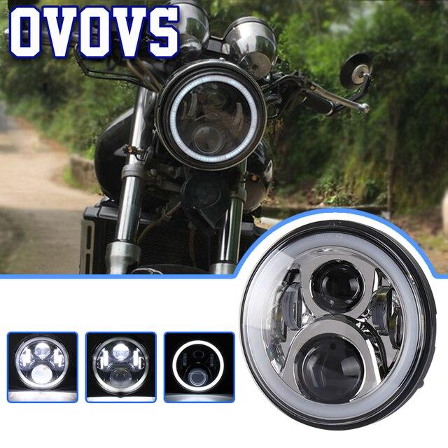 7 inch Runde Motorrad Scheinwerfer Led Halo Ring Hallo-Abblendlicht Für Honda CB400 CB750 CB1300 Hornet 250/ 600/900 VTEC400 VTR250 1 Pcs