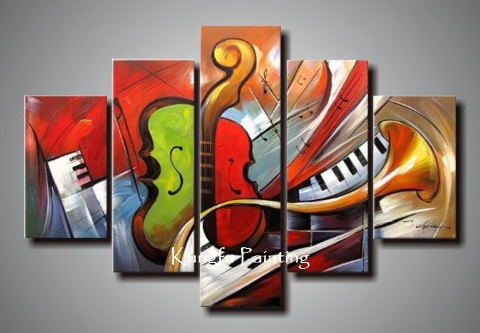 Holiday Sale 100% Hand Painted Discount Abstract Music