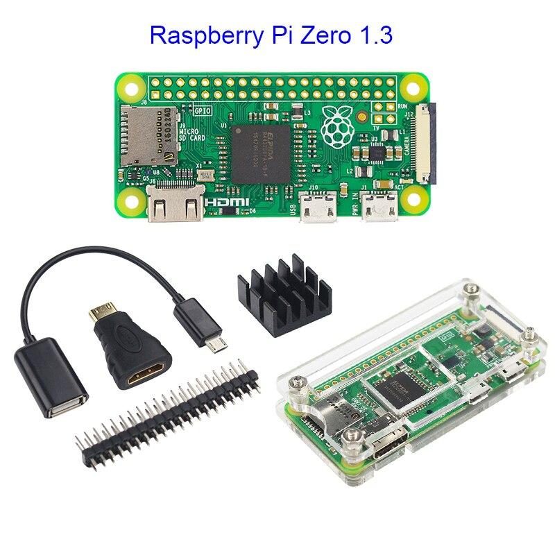 3pc Starter Accessory Kit for Raspberry Pi Zero 1.3 W USB HDMI Adapter Header