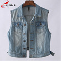 Fashion Waistcoat Women's Tops 2016 Spring New Short Jeans Vests Women Sleeveless Female Denim Coat