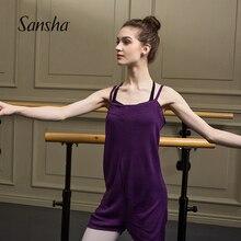 Sansha camisola de malha profissional macacão ballet dança malhas acrílico adulto gilrs dancewear kt1603