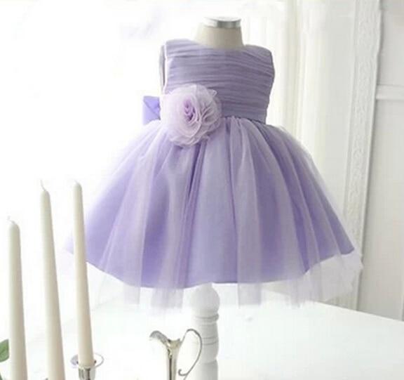 880b90a0af96 New Violet fleur fille robe bébé filles 1 ano d anniversaire de robe ...